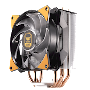 Intuitive fan bracket design makes upgrading and removing the fan a breeze