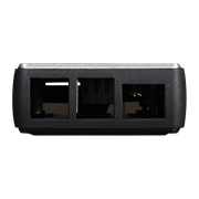 Rear view of the Pi Case 40 V2 with cutouts in the TPU bumper for USB 2.0, USB 3.0 and Ethernet connection.