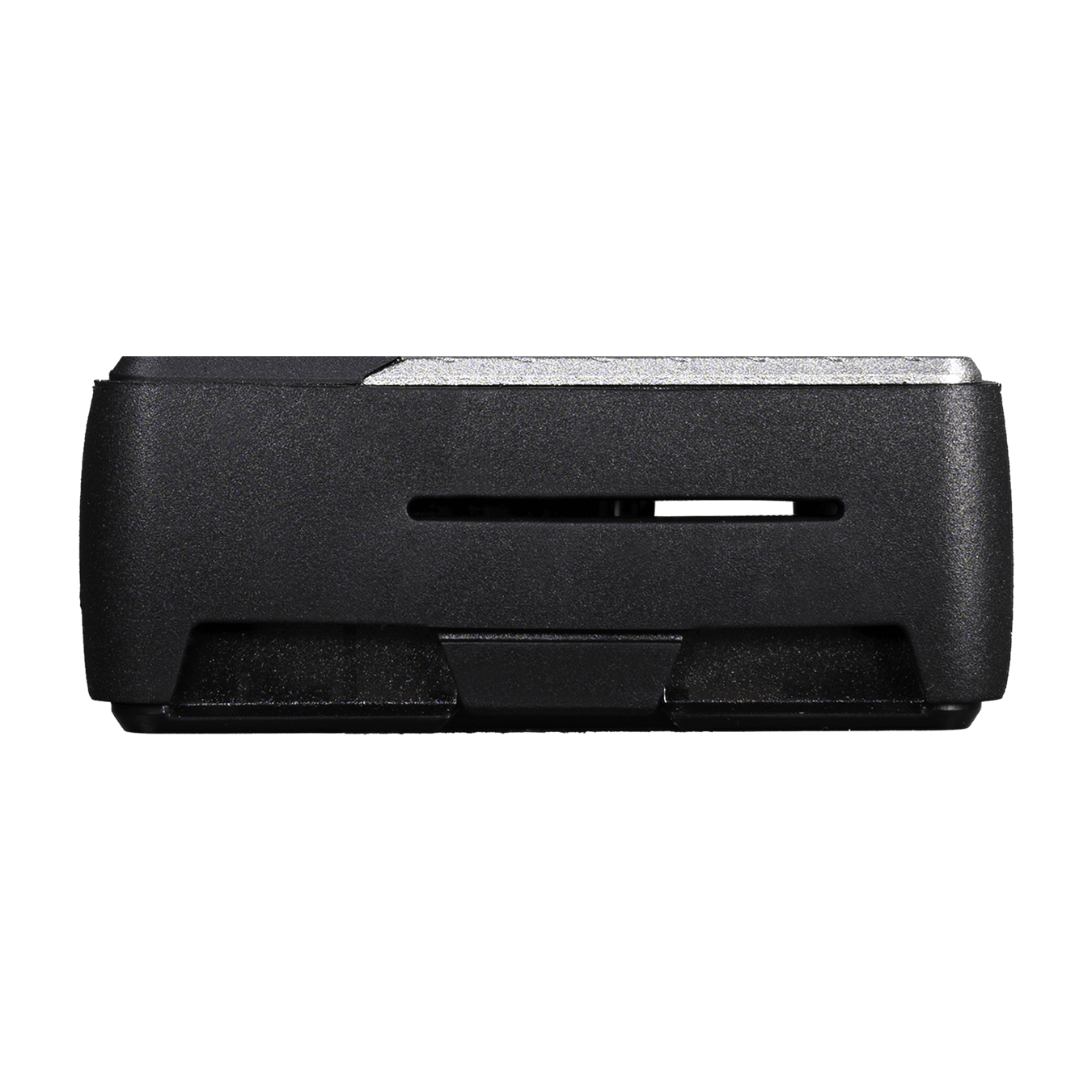 Front view of the Pi Case 40 V2  with a slit in the TPU bumper for display and camera connection.