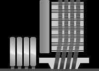 asymmetrical heat pipe design