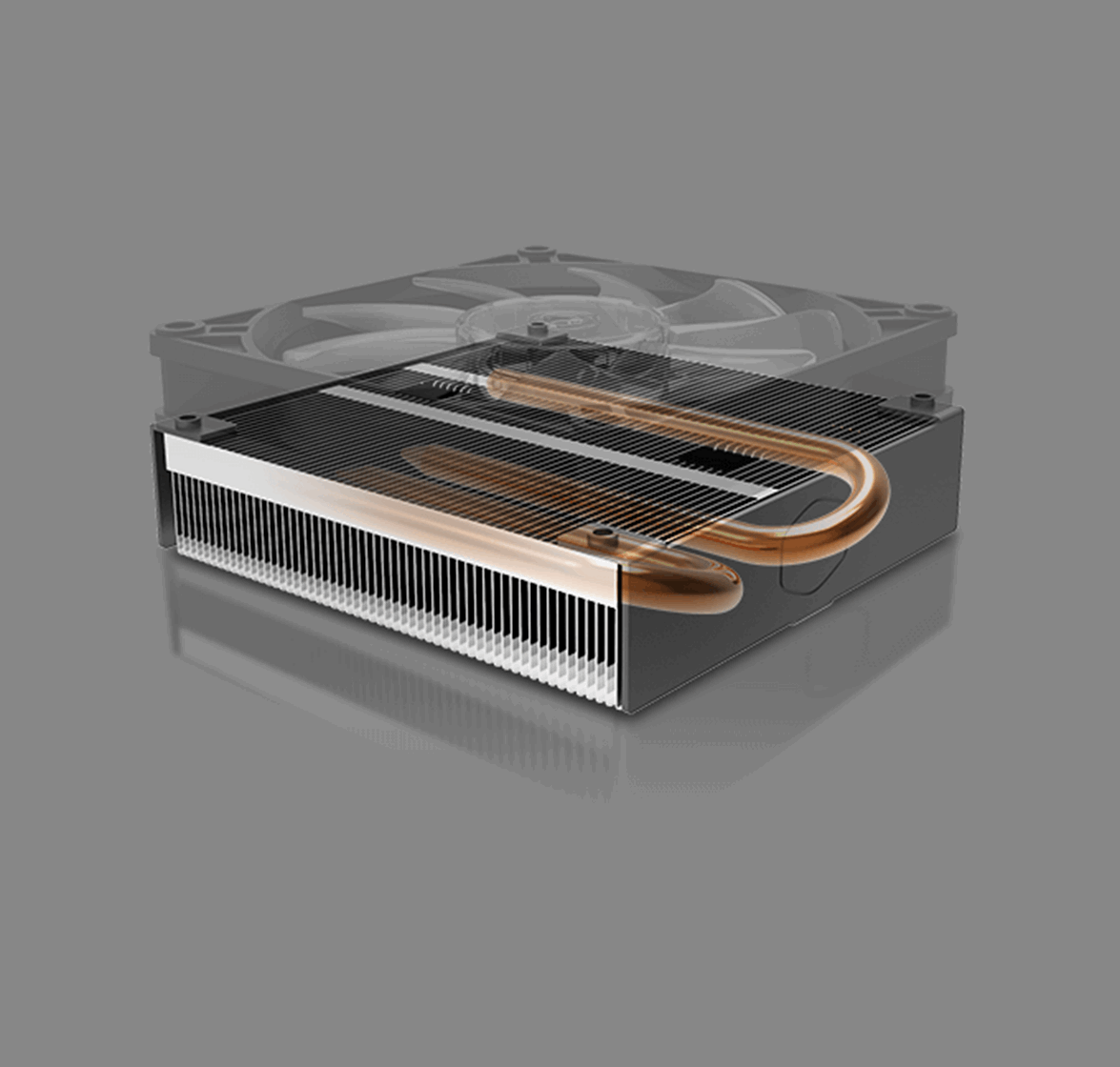 Two C-shaped Heat Pipe Design