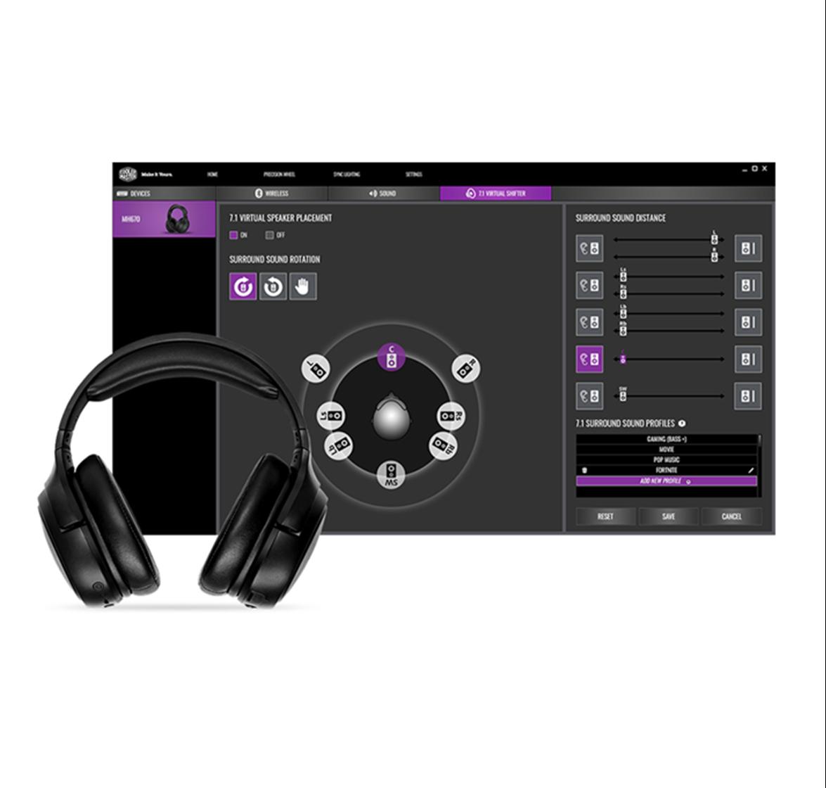 Powerful Virtual 7.1 Surround Sound