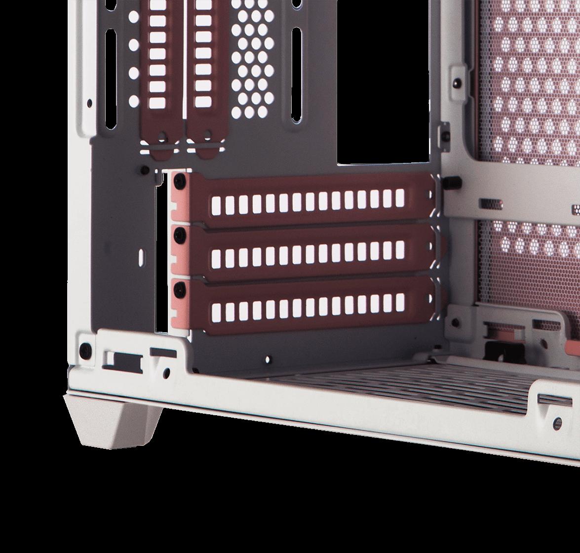相容Triple-Slot厚度顯示卡、內附顯卡延長線材