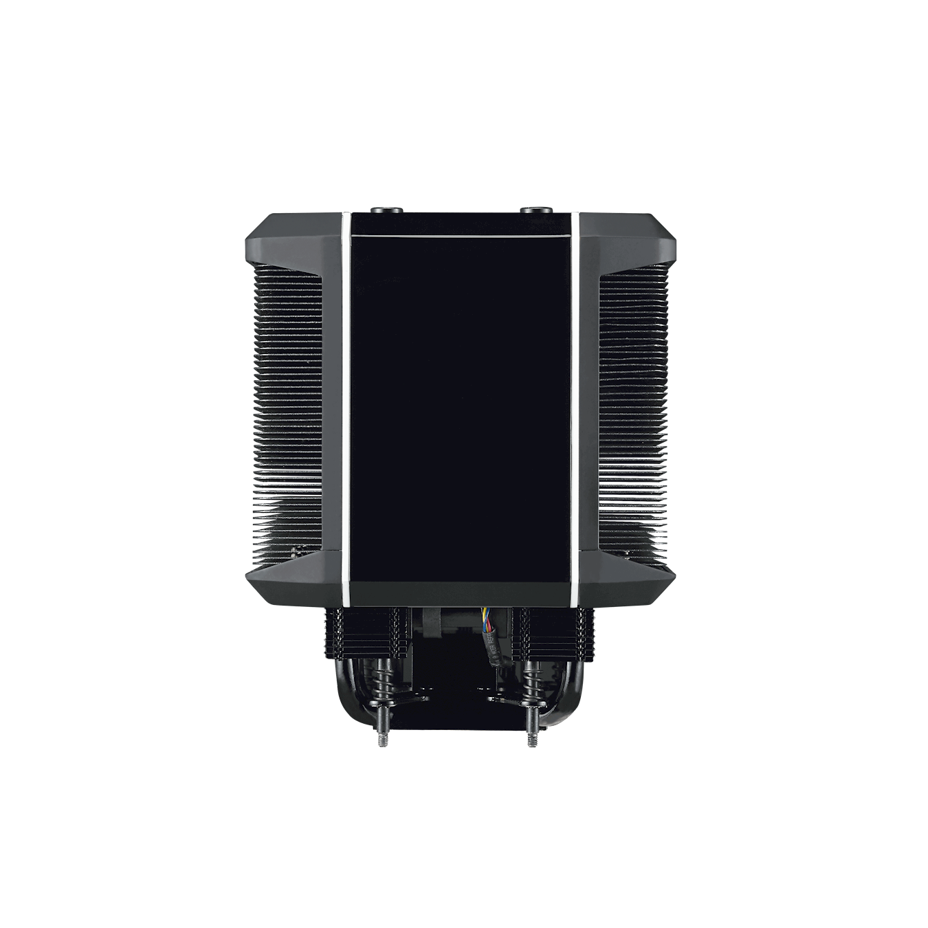 A combination of 2 sets of heatsink allows bigger and more spread out surface area.