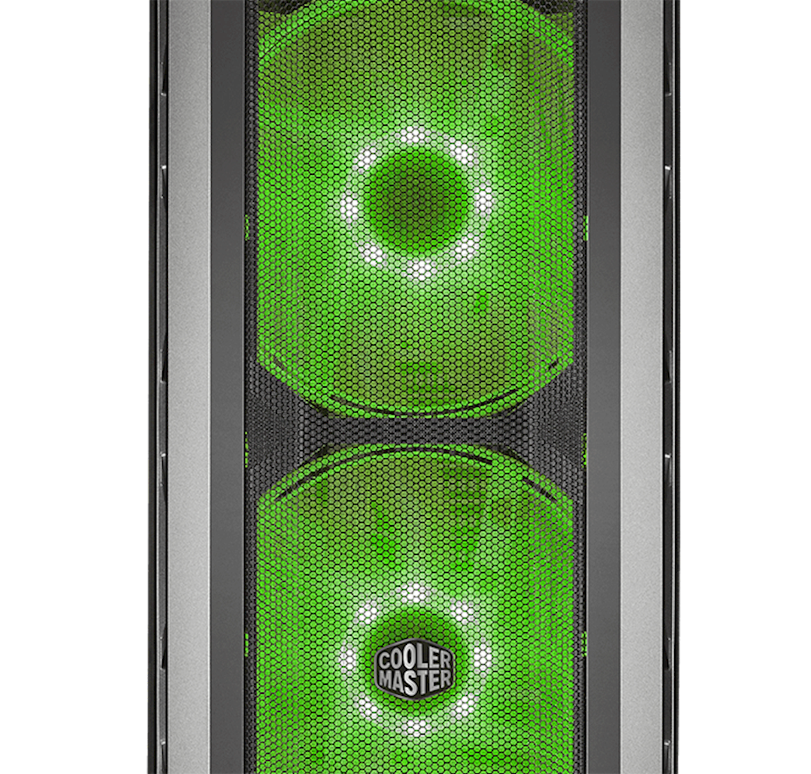 Two 200mm Rgb Fans Behind A Mesh Front Panel