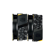 MasterAir MA620P TUF - Dual-Tower heatsink doubles the performance with ASUS TUF series top cover design.