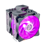 MasterAir MA620P has 6 heatpipes and Continuous Direct Contact Technology 2.0 (CDC 2.0)