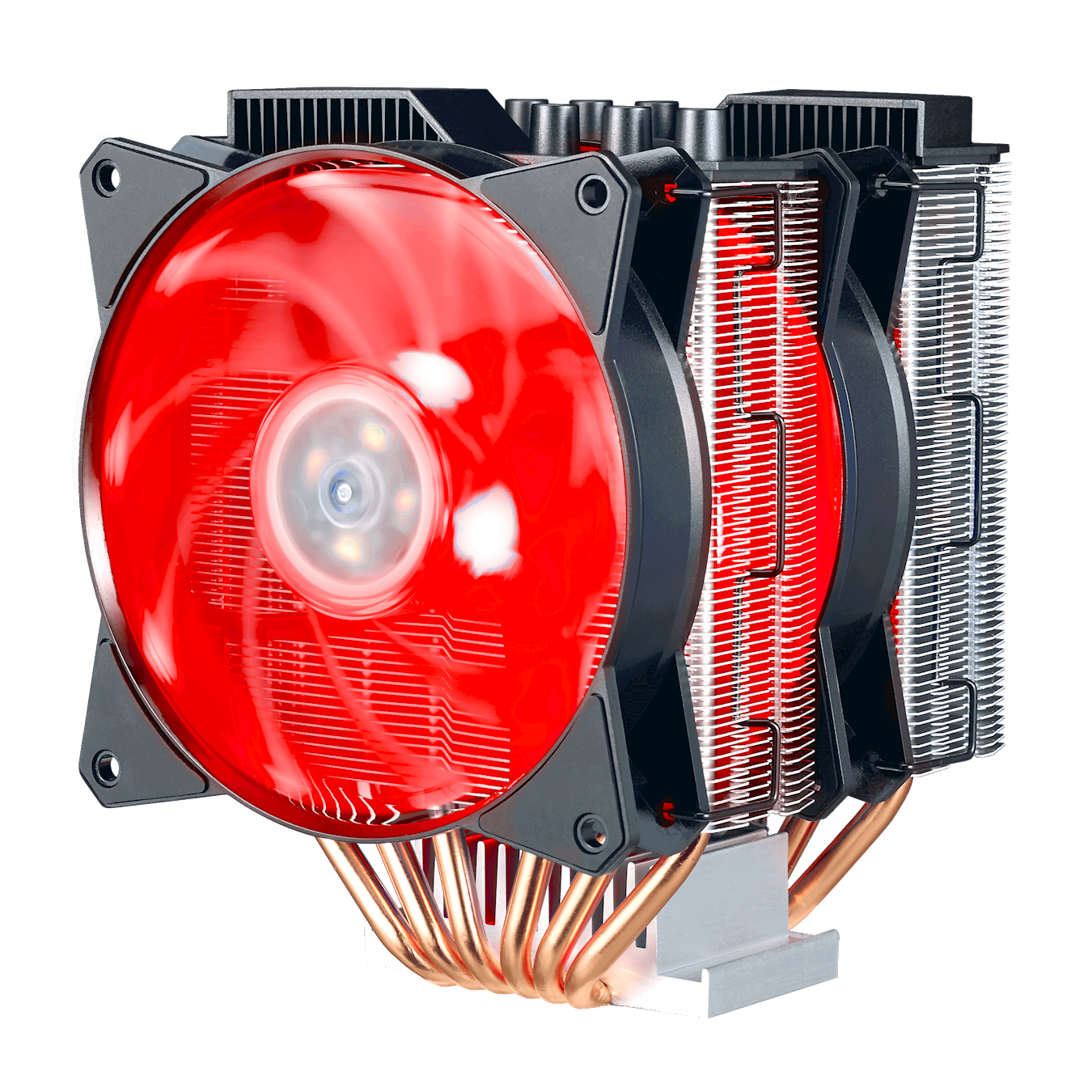MasterAir MA620P has 6 x heatpipes for fast transfer of heat, to make sure the CPU is running at optimal performance.