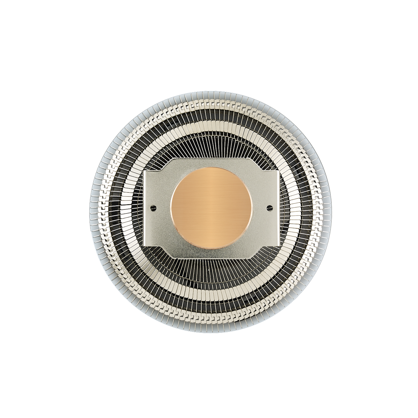 Custom Heat Column technology increases the direct contact surface area for exceptional heat transfer and cooling performance