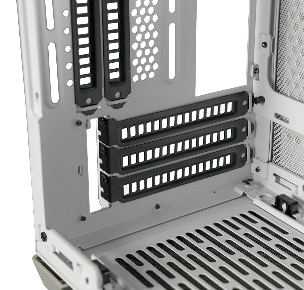 Triple-slot GPU support and Included Vertical Riser Cable